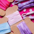 Ribbon bobbins — Stock Photo