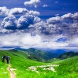 Carpathian landscape - Stock Photo