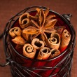 Cinnamon sticks and anise stars — Stock Photo