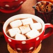 Chocolate with marshmallow — Stock Photo