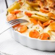 Potato and carrot gratin — Stock Photo