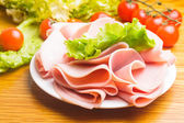 Ham slices — Stock Photo