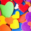Colorful hearts — Foto de Stock