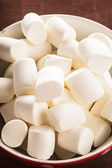 Marshmallows in a bowl — Stock Photo