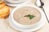 Mushrooms cream soup — Stock Photo