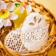Easter cookies in basket — Stock Photo