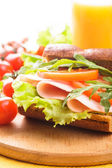 Wholegrain sandwich — Stock Photo