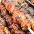 Shashlik closeup - Stock Photo