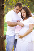 Pregnant couple — Stock fotografie