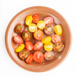 Various types of cherry tomatoes — Stock Photo