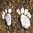 Stone foots — Stock Photo