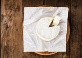 Camembert slice closeup — Stock Photo