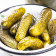 Salted cucumber — Stock Photo