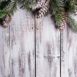 Shabby Christmas border — Stock Photo
