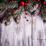 Christmas border design — Stock Photo