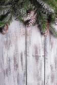 Shabby Christmas border — Stock Photo