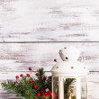 Cristmas lantern with fir and berries — ストック写真 #31853069