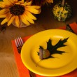 Thanksgiving serving table — Stock fotografie