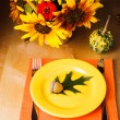 Thanksgiving serving table — Stock Photo