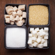 Sugar types — Stock Photo