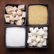 Stock Photo: Sugar types