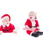 Santa babies — Stock Photo #34521253