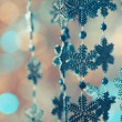 Blue snowflakes — Stock Photo #34522021