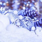 White christmas decor — Stock Photo