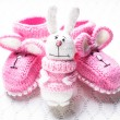 Knitted baby booties — Stock Photo #35283869
