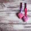 Crochet lovely hearts — Foto Stock