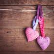 Crochet lovely hearts — Stock Photo #35555665