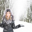 Woman in winter — Stock Photo