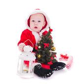圣诞老人的男孩 — 图库照片