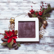 Stock Photo: Christmas vintage chalkboard