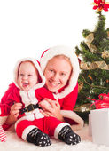 Christmas baby and mom — Stock fotografie