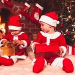 Vánoční krb — Stock fotografie