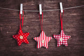 Sewed christmas decor — Stock Photo
