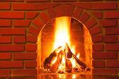 горение огня — Стоковое фото