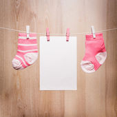 Baby girl socks — Stock Photo