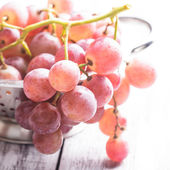 Big red grapes — Stock Photo