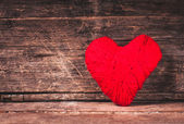 Red thread heart — Stock Photo