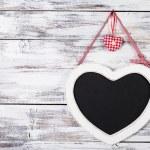 The heart shape chalkboard — Stock Photo