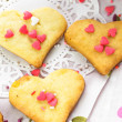 Foto Stock: Heart cookies