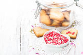 Heart cookies — Stock Photo