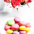 Macaroons in gift box — Stock Photo