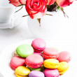 Macaroons in gift box — Stock Photo #39637401