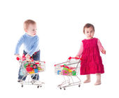 Children and shopping — Stock Photo