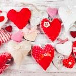 Valentine handmade heart — Stock Photo