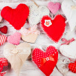 Valentine handmade heart — Stock Photo #40140985