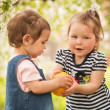 Children in the garden — Stock Photo